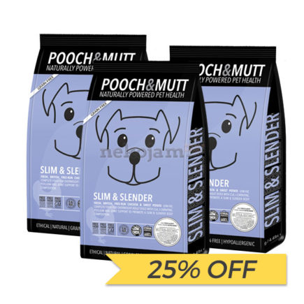 25% OFF: Pooch & Mutt Slim and Slender Grain Free Dry Dog Food, 2kg x 3