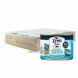 ZiwiPeak Mackerel & Lamb Canned Cat Food (Improved Formula), Case of 12