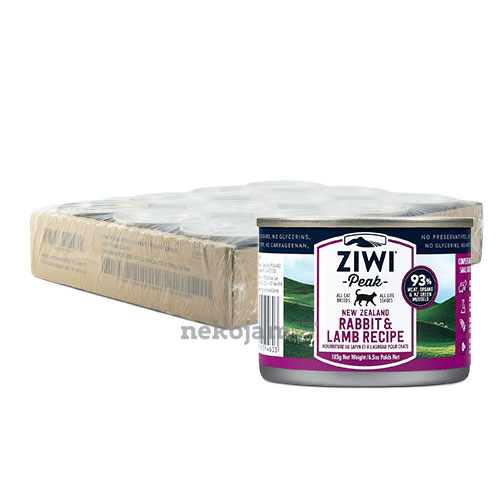 ZiwiPeak Rabbit & Lamb Canned Cat Food (Improved Formula), Case of 12
