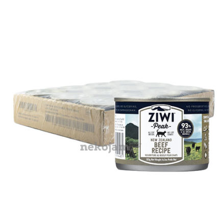 ZiwiPeak Beef Canned Cat Food (Improved Formula), Case of 12