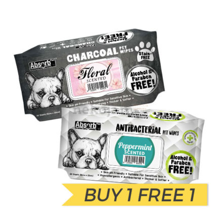 BUY 1 FREE 1: AbsorbPlus Pet Wipes
