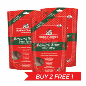 BUY 2 FREE 1: Stella & Chewy's Freeze Dried Phenomenal Pheasant Dinner Patties for Dogs