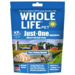 Whole Life Pet Just-One Ingredient Pure Turkey Freeze-Dried Dog Treats, 3oz