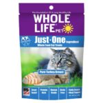Whole Life Pet Just-One Ingredient Pure Turkey Freeze-Dried Cat Treats, 1oz