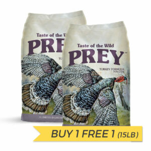 BUY 1 FREE 1: Taste of the Wild Prey Turkey Dry Cat Food -15lb