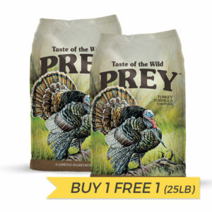 BUY 1 FREE 1: Taste of the Wild Prey Turkey Dry Dog Food – 25lb