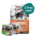 FREE WET FOOD: Zoë Weight Control Turkey with Barley & Quinoa Dry Cat Food