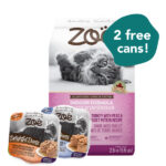 FREE WET FOOD: Zoë Indoor Formula Turkey with Peas & Russet Potato Dry Cat Food
