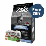 FREE 1 CUP WET FOOD: Zoë Grain-Free Chicken with Peas & Quinoa Dry Dog Food, 2kg