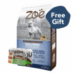 FREE 1 CUP WET FOOD: Zoë Small Breed Chicken, Quinoa & Black Bean Dry Dog Food, 2kg