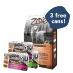 FREE 3 CUPS WET FOOD: Zoe Turkey, Chickpea & Sweet Potato Dry Dog Food for Large Breeds, 11.5kg