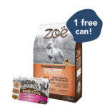 FREE 1 CUP WET FOOD: Zoë Small Breed Turkey, Chickpea & Sweet Potato Dry Dog Food, 2kg