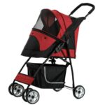 Petty Man 869 Pet Stroller (Red)