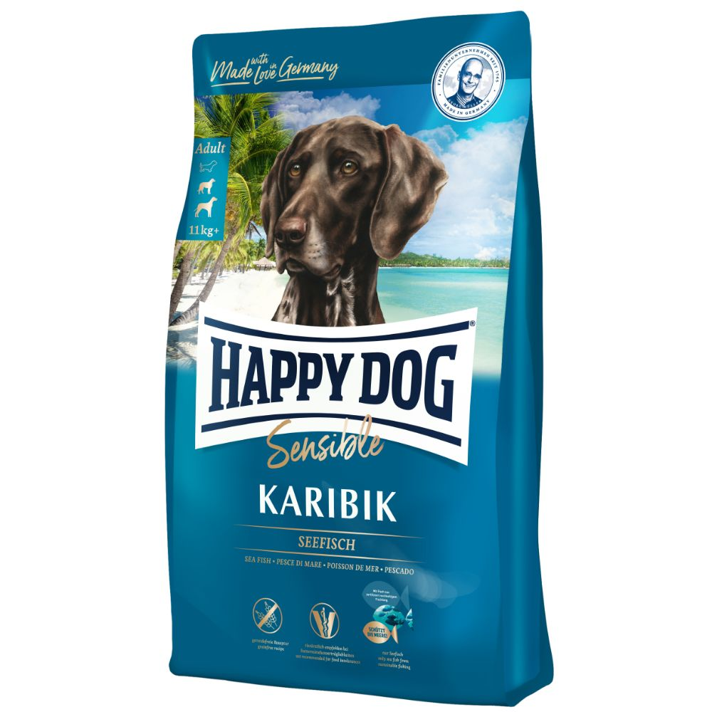 Happy Dog SENSIBLE Karibik Seafish & Potato Grain & Gluten-Free Dry Dog Food