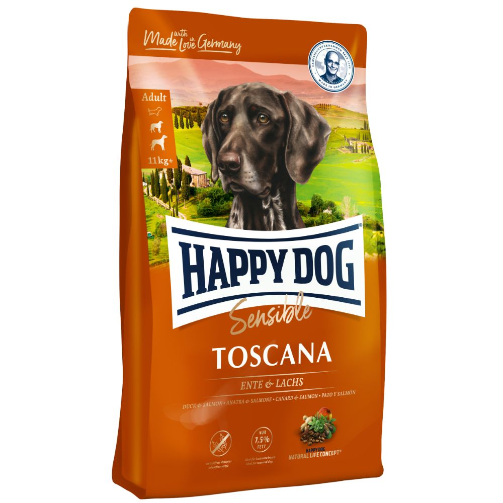 Happy Dog SENSIBLE Toscana Duck & Salmon Gluten-Free Dry Dog Food