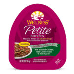 Wellness Small Breed Petite Entrees Roasted Chicken, Beef, Green Beans & Red Peppers Shredded Medley Wet Dog Food