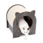 Lulu's World Lu-Casa Mido Resting Cat House in Oak