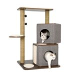Lulu's World Lu-Cubox Twin Base Cat Furniture in Oak