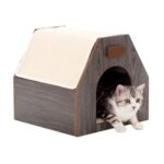 Lulu's World Lu-Casa Classic Resting Cat House in Oak
