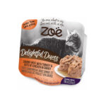 Zoë Delightful Duets Turkey & Chicken in Gravy Grain-Free Wet Cat Food, 80g