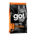Petcurean GO! Solutions Skin+Coat Grain-Free Salmon Dry Cat Food, 3lb