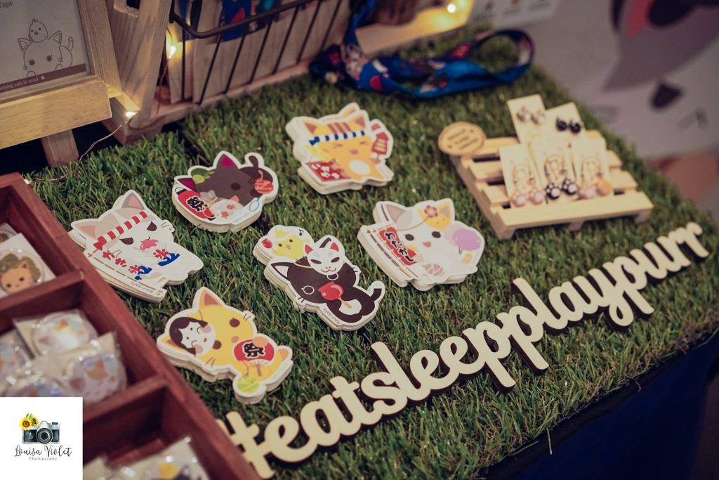 creative bazaar purrballs cute cat merchandise singapore cat festival 2018 facebook