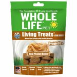 Whole Life Pet Living Treats Real Peanut Butter Freeze-Dried Dog Treats, 3oz