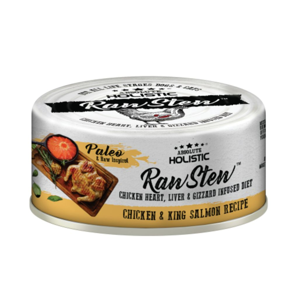 Absolute Holistic Chicken & King Salmon Raw Stew Topper, 80g