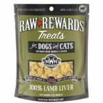 Northwest Naturals Raw Rewards Lamb Liver Dog & Cat Treats, 3oz