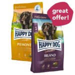 BUY 1 FREE 1: Happy Dog SENSIBLE Dry Dog Food, 300g & 4kg