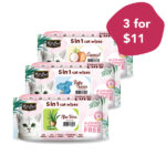 3 FOR $11: Kit Cat 5 In 1 Cat Wipes for Ear, Eye, Facial & Paws