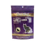 Real Meat All-Natural Air Dried Lamb & Lamb Liver Jerky Cat Treats in 3oz