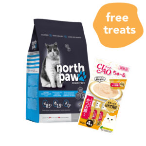 FREE CIAO TREATS North Paw Grain-Free Dry Cat Food, 2.25kg