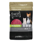 Fresh Pet Food Premium Diced Kangaroo Frozen Raw Food 1kg