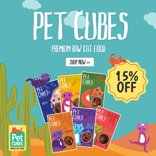 petcubes frozen raw cat food relaunch