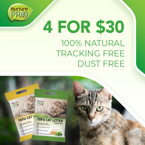 nurture pro 4 for $30 tofu cat litter