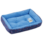 Marukan Cooling Reversible Square Bed in Navy Blue