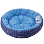 Marukan Cooling Reversible Round Bed in Navy Blue