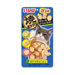 Ciao Tuna & Tuna & Chicken Fillet with Dried Bonito, Seafood and Crab Soft Cat Treats, 25g