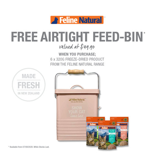 feline natural airtight feed-bin promotion