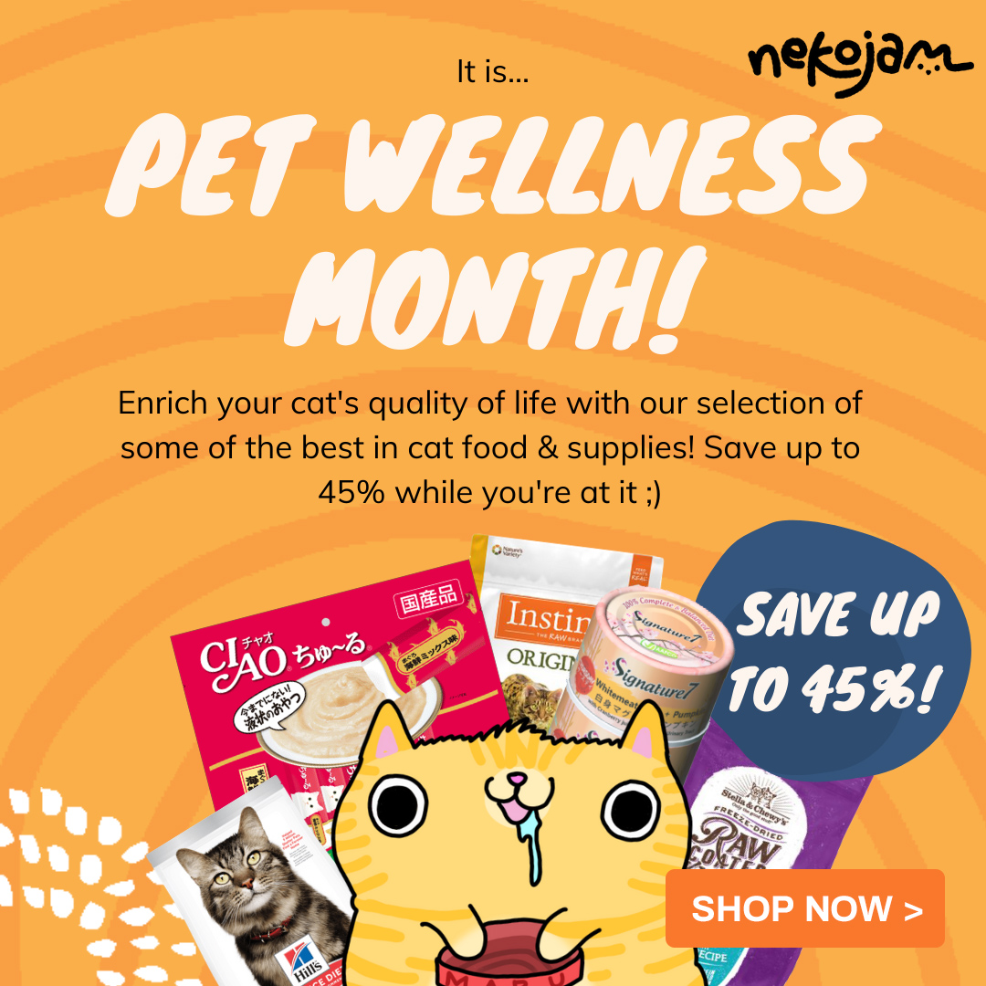 nekojam pet wellness month with button