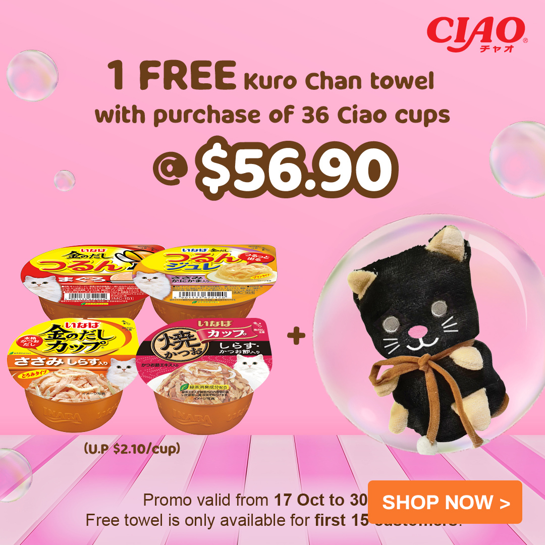 ciao free gift with purchase of ciao cups promo