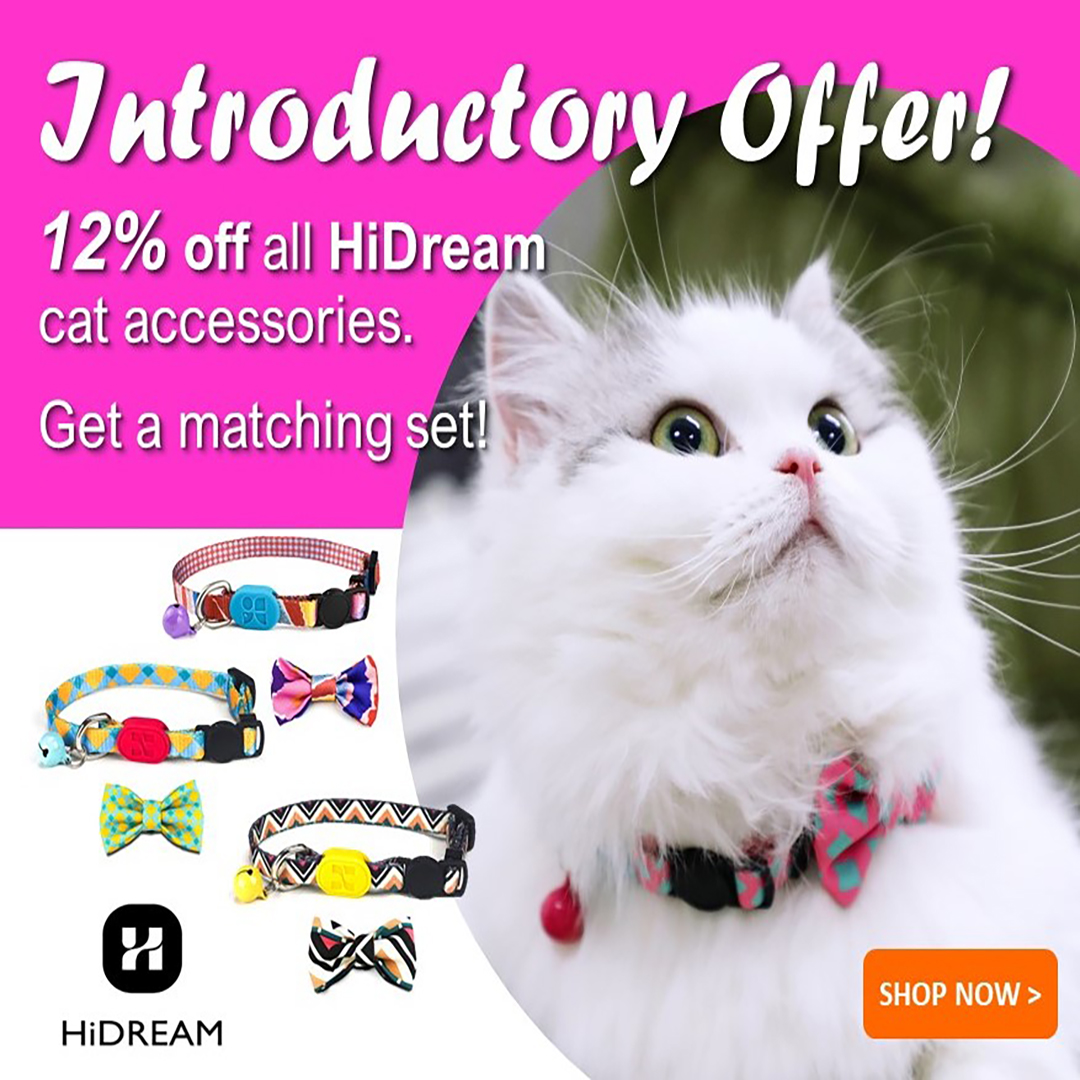 hidram cat accessories promotion banner